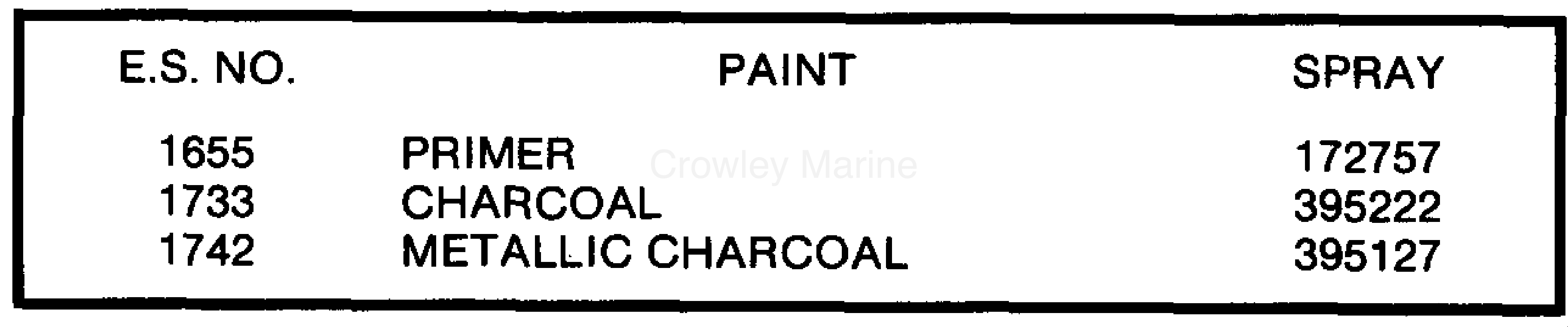 1988 OMC Stern Drive 2.3 - 232AMRGDE PAINT CHART section