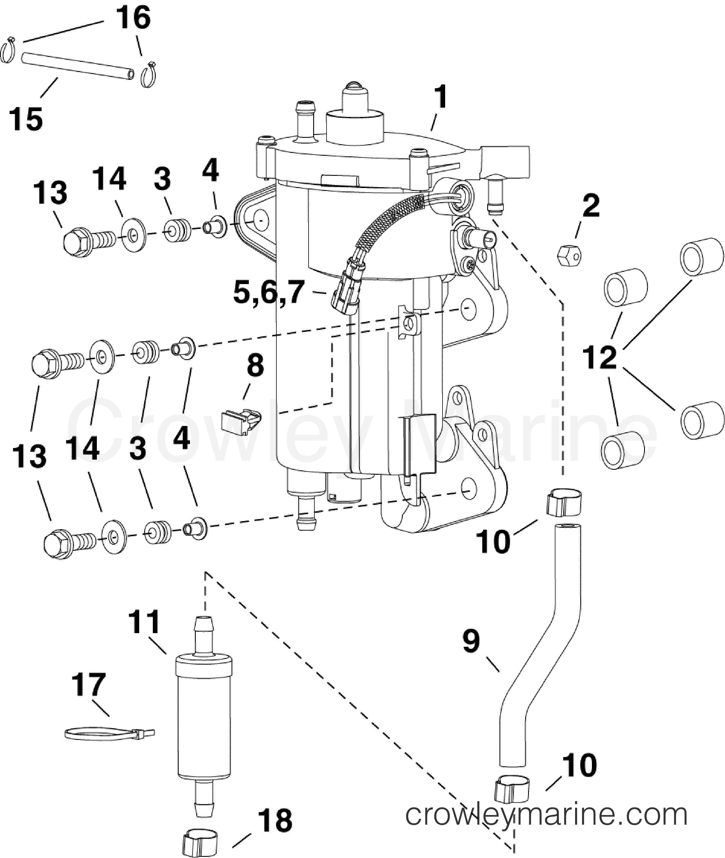 fuel pump  u0026 vapor separator