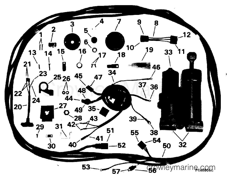 1994 Rigging Parts Accessories - Power Trim & Tilt - POWER TRIM/TILT KIT - 40, 48 & 50 TE & REMOTE ELECTRIC