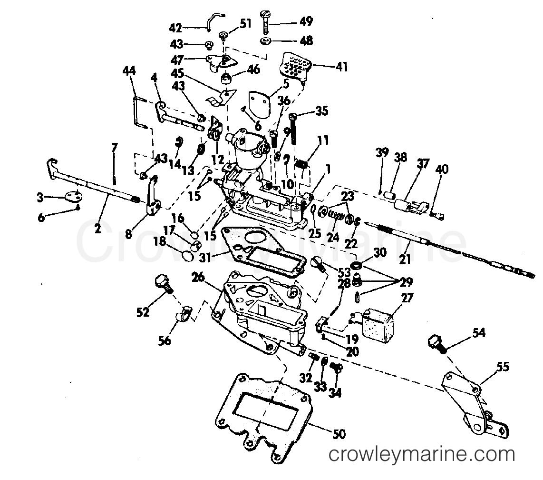 Carburetor 1973 Evinrude Outboards 9 5 9322b Crowley