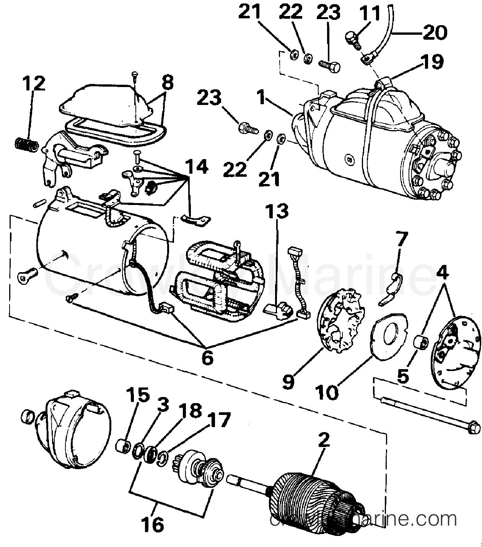 1988 OMC Stern Drive 2.3 - 232AMRGDE STARTER section