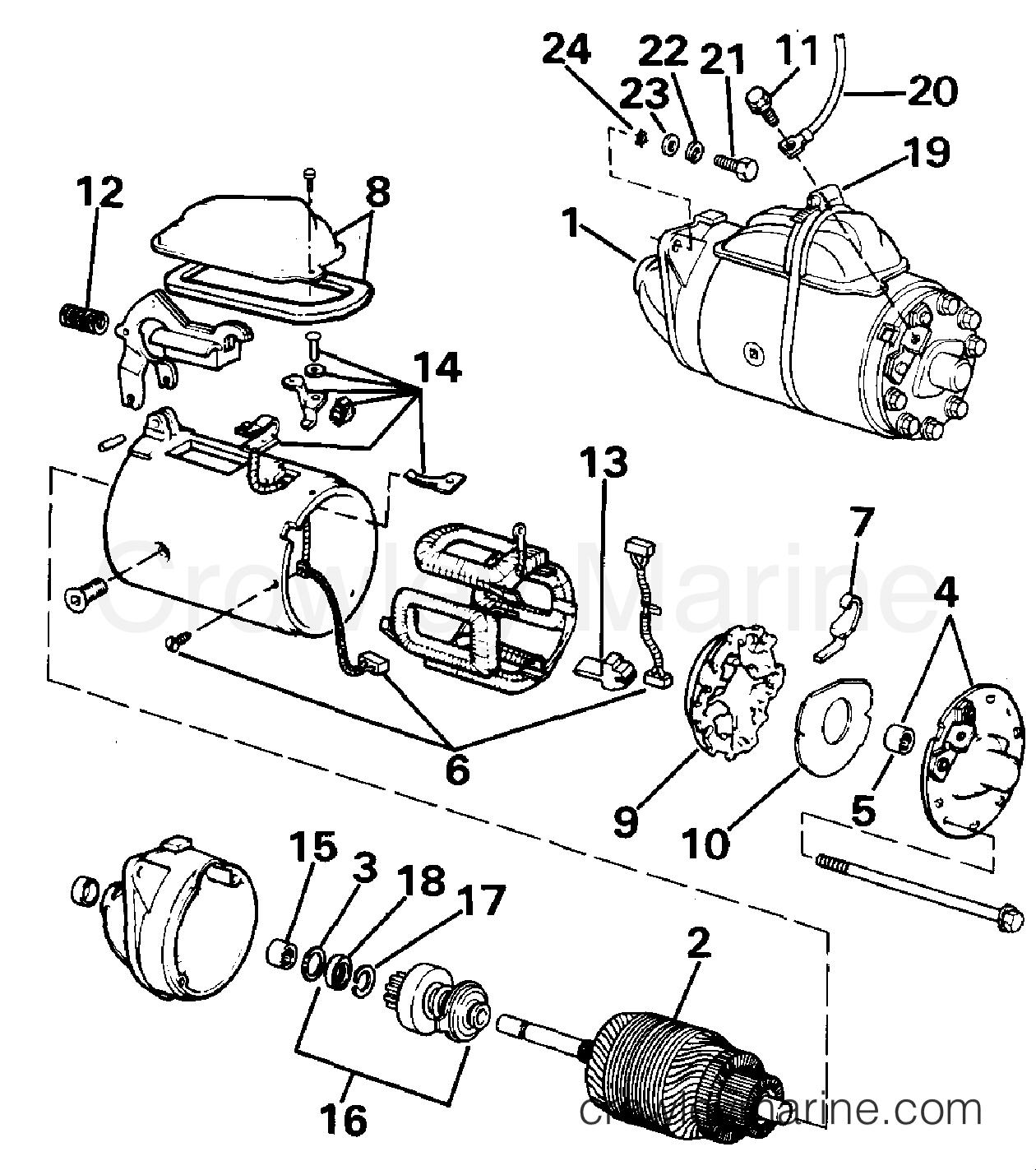 1990 OMC Stern Drive 2.3 - 232BMRPWS STARTER section