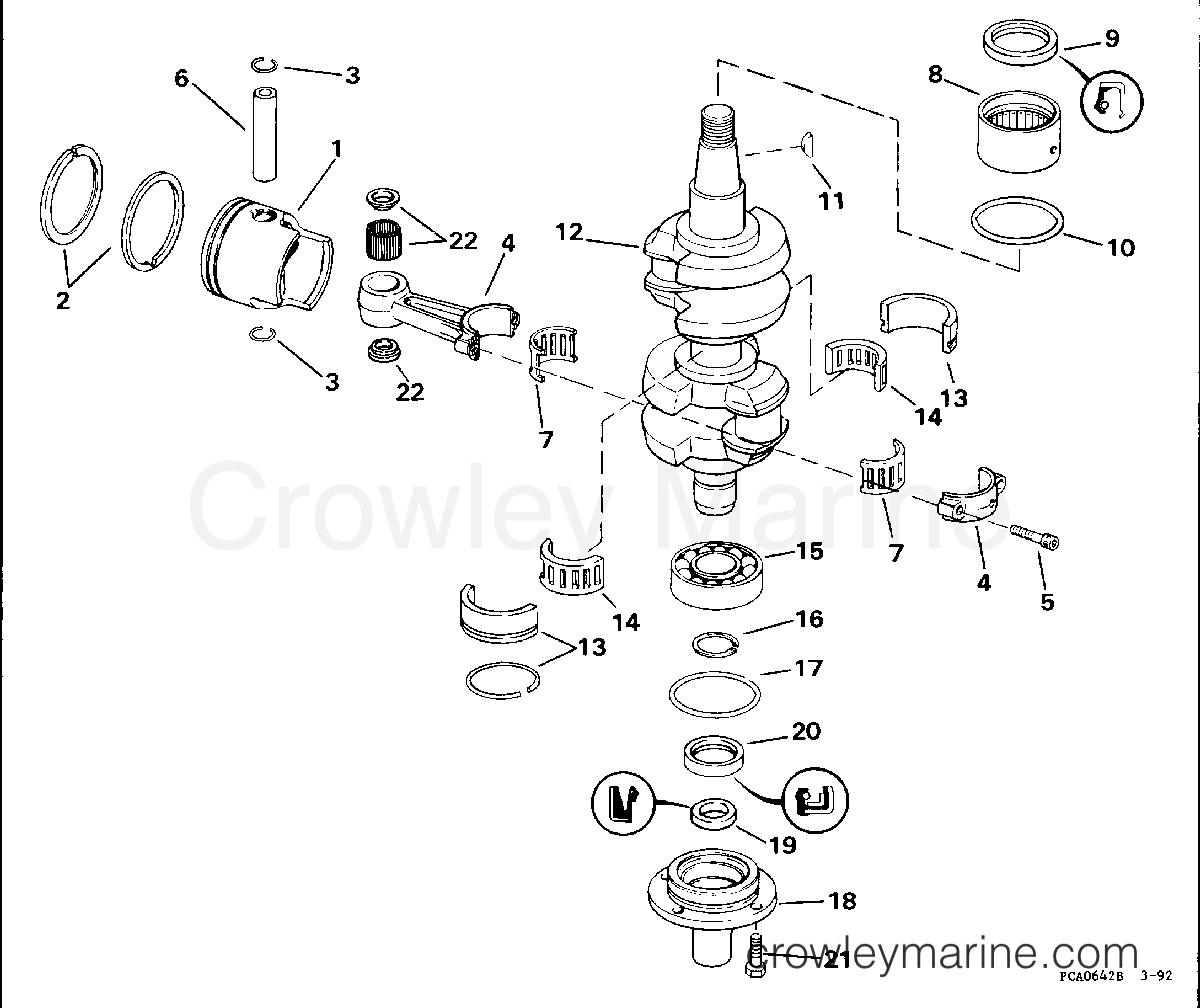 1994 Evinrude Outboards 45 - E45RCERE CRANKSHAFT & PISTON section