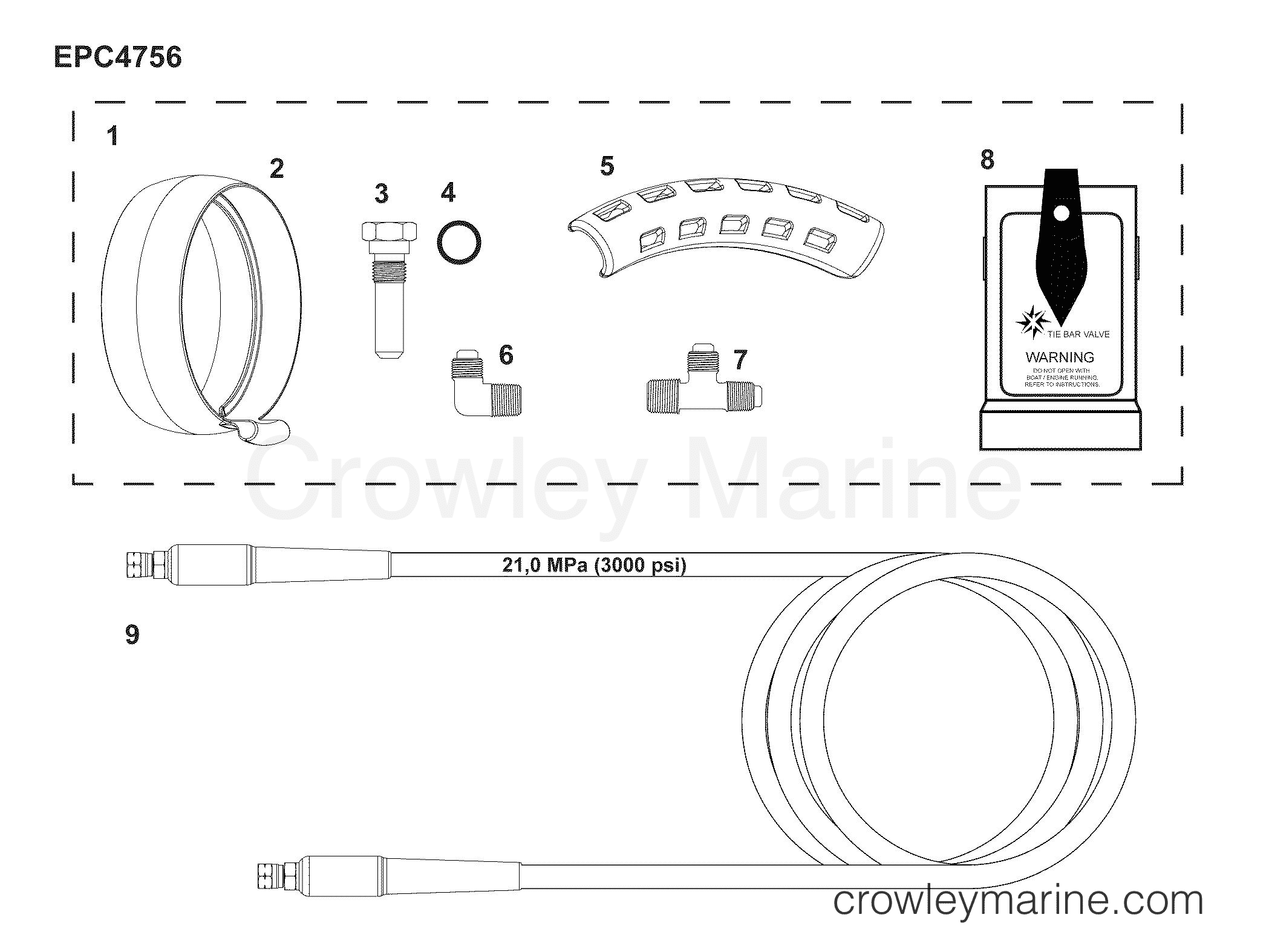 hydraulic tie bar kit 2013 2015 rigging parts e tec g2. Black Bedroom Furniture Sets. Home Design Ideas