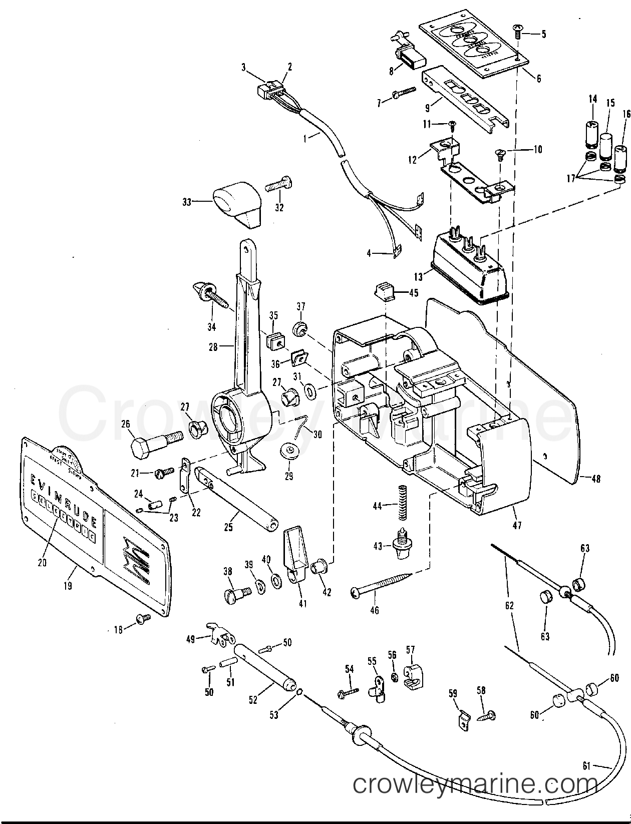 omc shifter diagram  omc  free engine image for user Boat Electrical Wiring Diagrams YUZZj0Ha