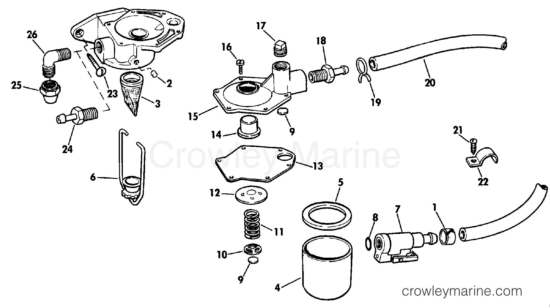 1985 Rigging Parts Accessories - Fuel System - PRIMER PUMP KIT