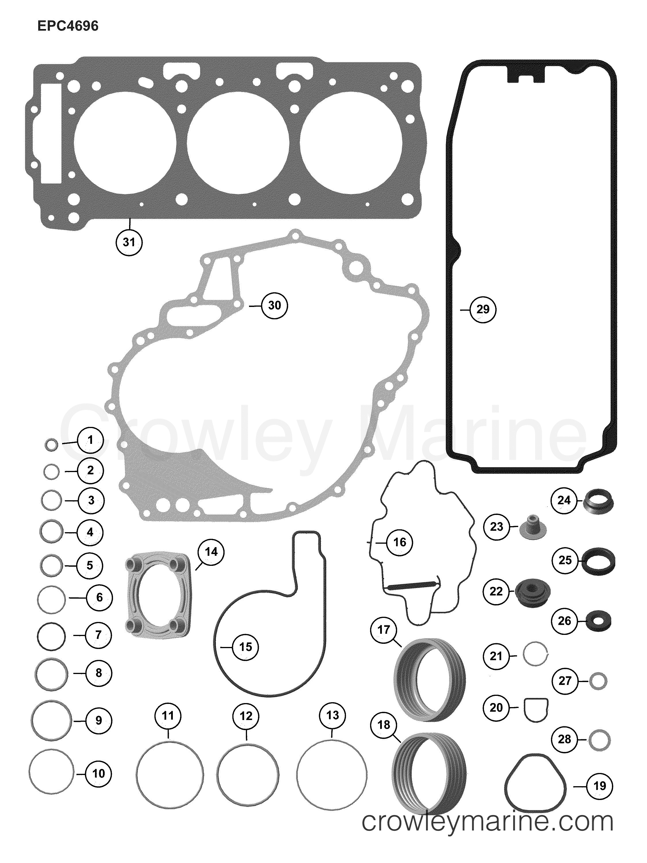 AB Rotax Powertrains 150 - 440017ABA ENGINE GASKET KIT section