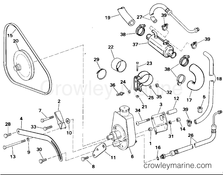 1994 OMC Stern Drive 5.8 - 58FAGPMDM - POWER STEERING PUMP