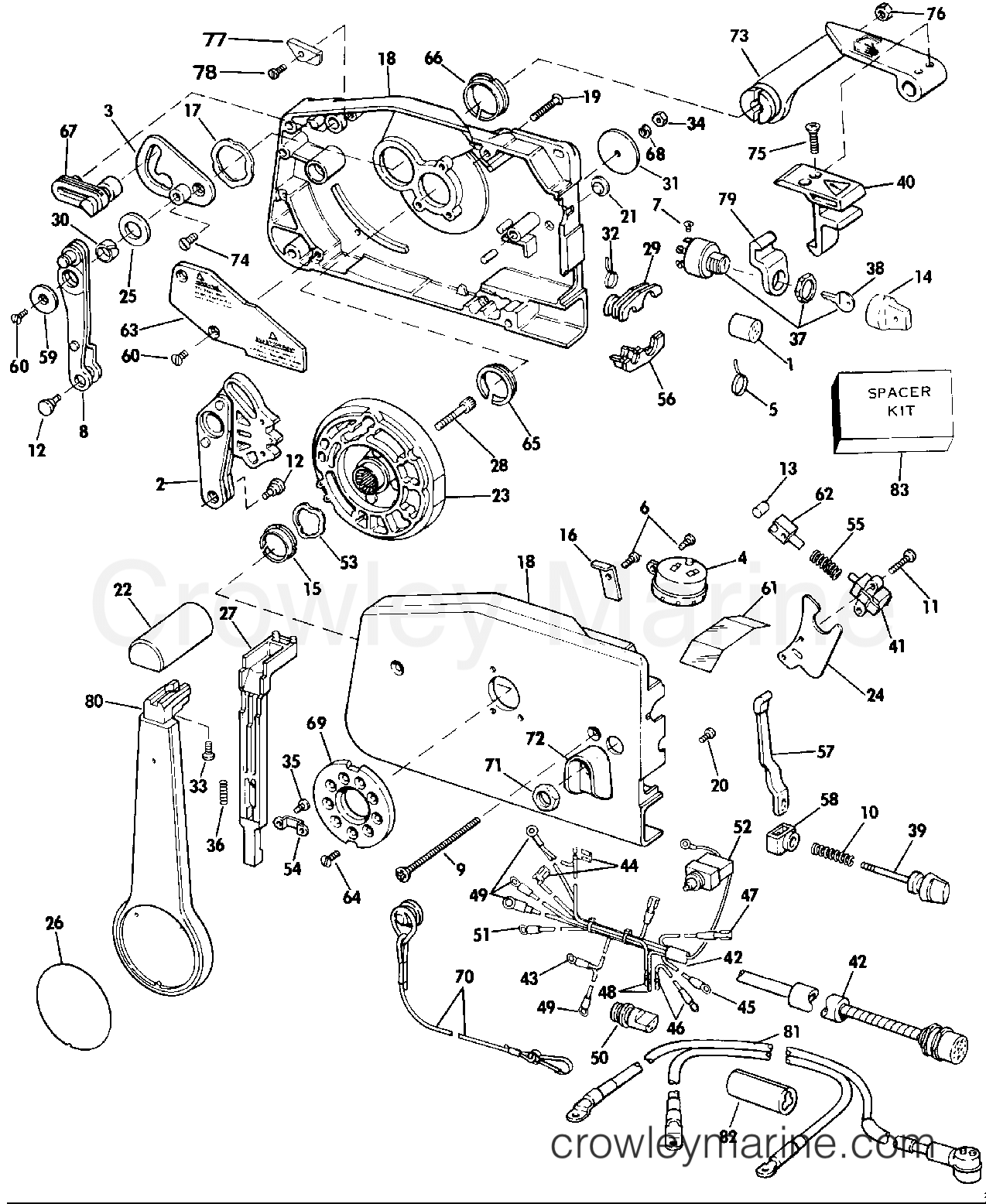 1986 Evinrude Outboards 35 - E35RCDM - REMOTE CONTROL section