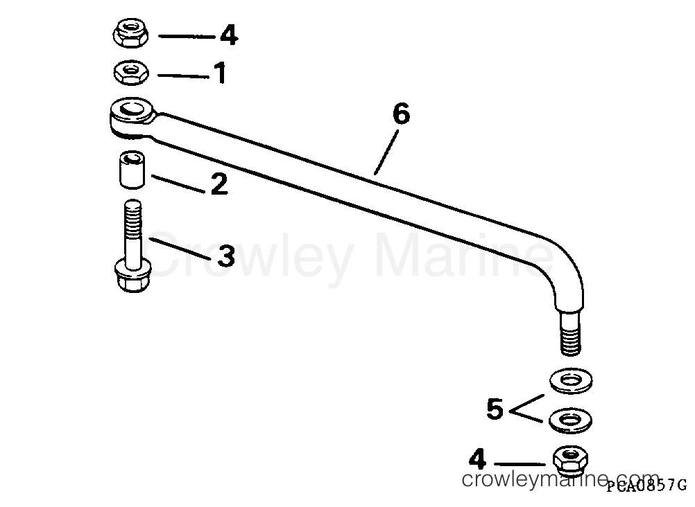 1994 Evinrude Outboards 100 - E100WTLERS STEERING LINK KIT section