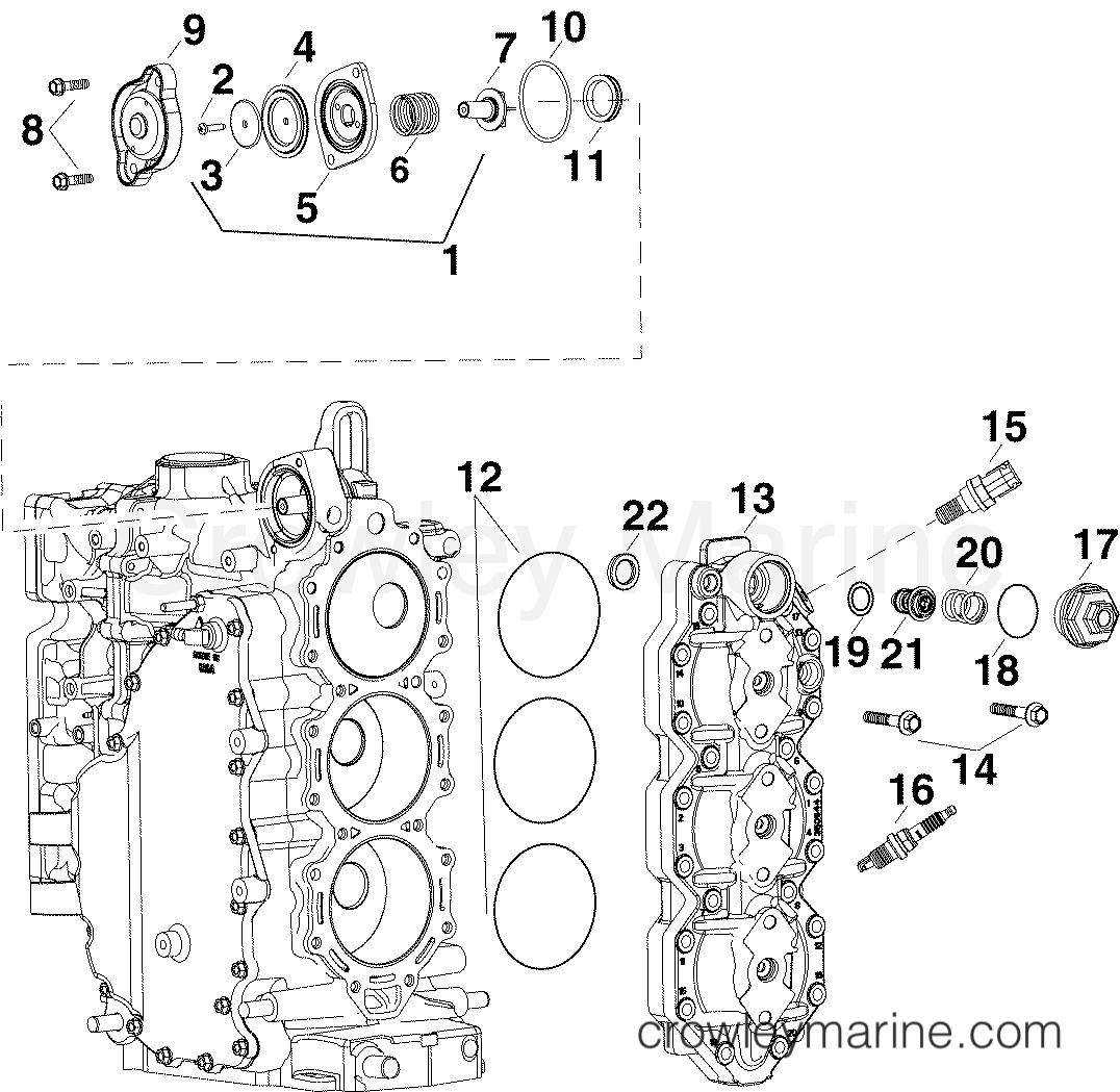 cylinder head  u0026 thermostat