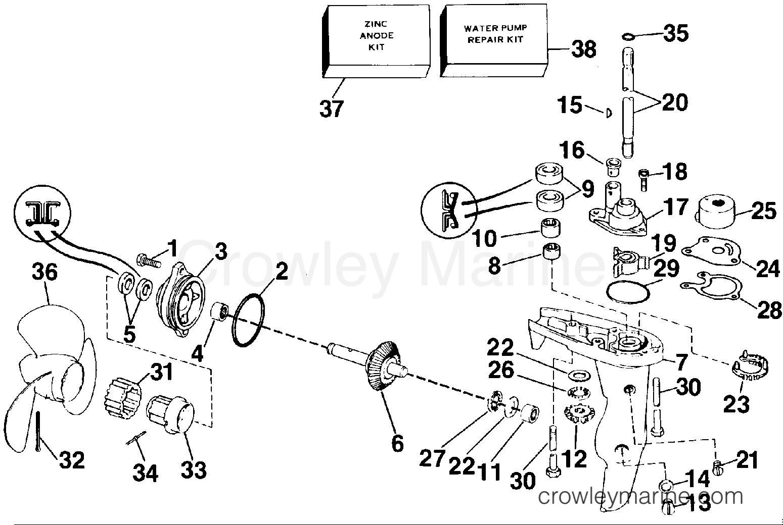 gearcase - 3rc models