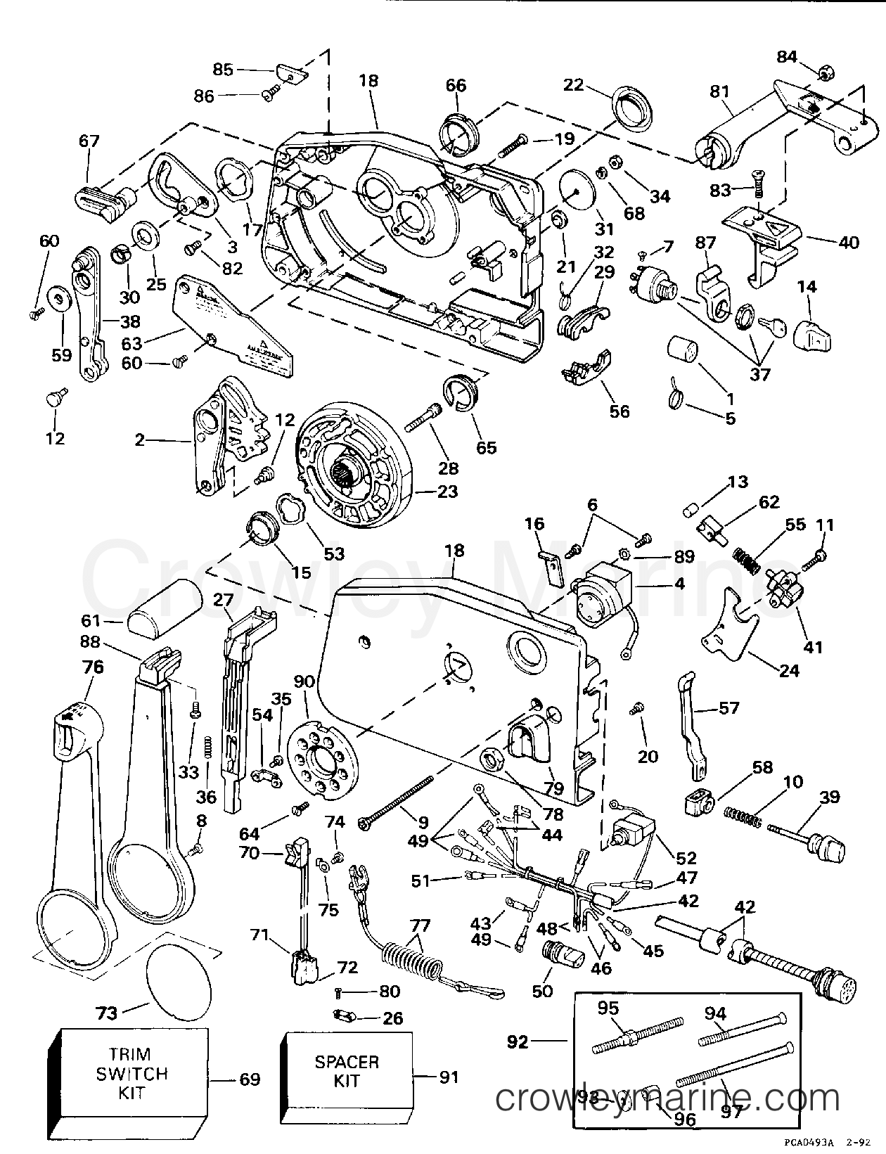 Omc Shifter Diagram Content Resource Of Wiring 1978 Remote Control Parts 32 Cobra Shift Cable