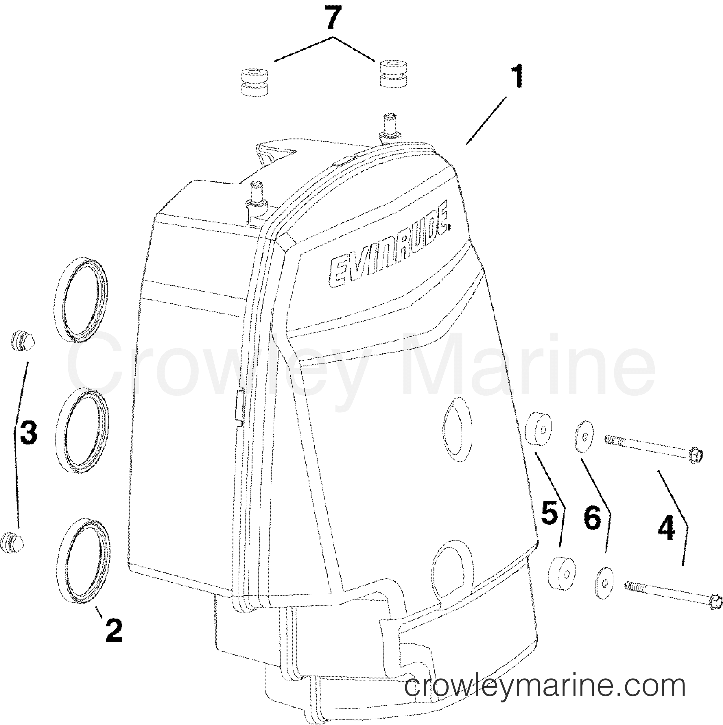 2010 Evinrude Outboards 250 - DE250CXISF - AIR SILENCER section