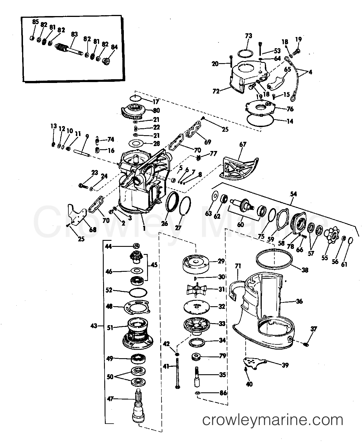 omc 120 hp engine diagram