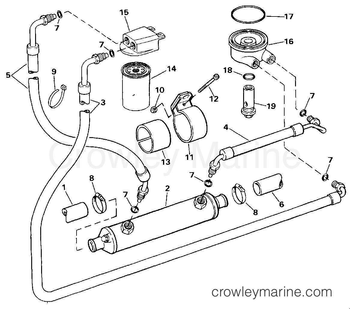 1994 OMC Stern Drive 7.4 - 744DJPMDA - OIL SYSTEM