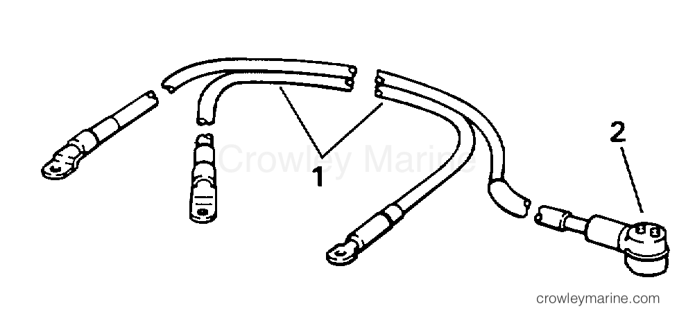 1996 Evinrude Outboards 100 - E100WTLEDR BATTERY CABLE section