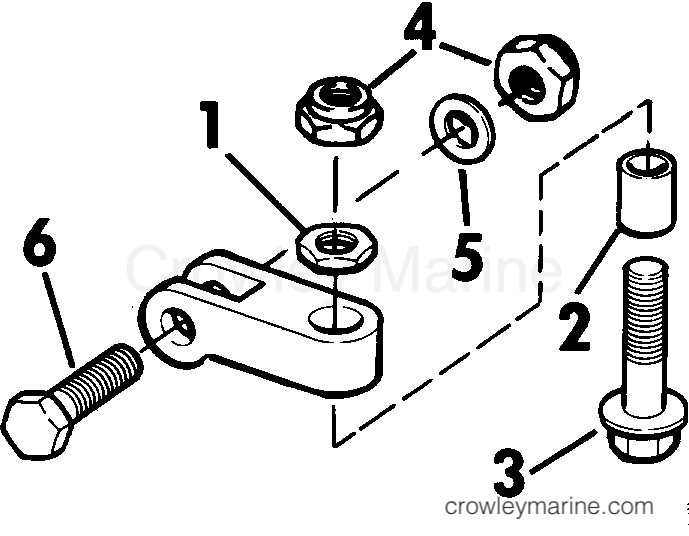 1979 Rigging Parts Accessories - Steering - STEERING BOLT AND CLEVIS ASSEMBLY KIT