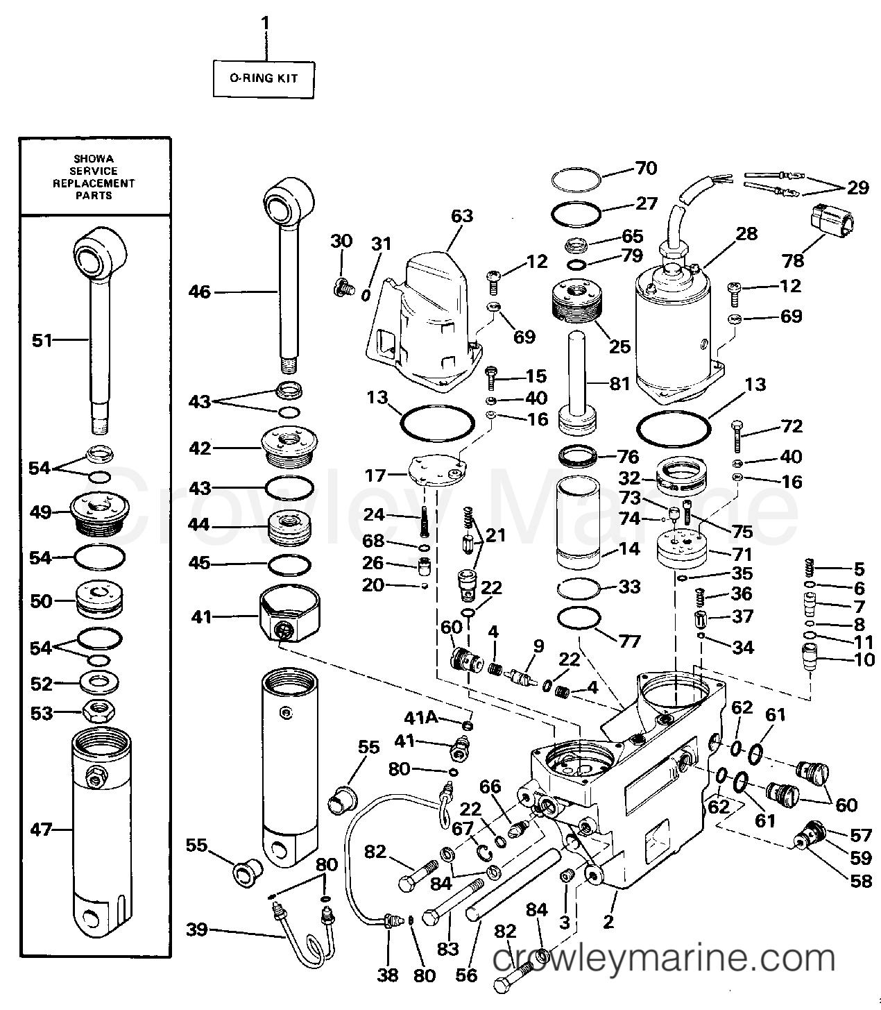 гидроподъем для лодочного мотора evinrude
