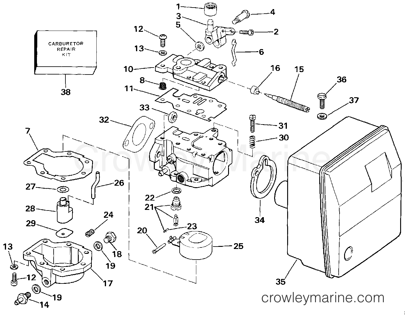 carburetor 1987 evinrude outboards 6 e6rcud crowley marine ICU Trends 1987 evinrude outboards 6 e6rcud carburetor section