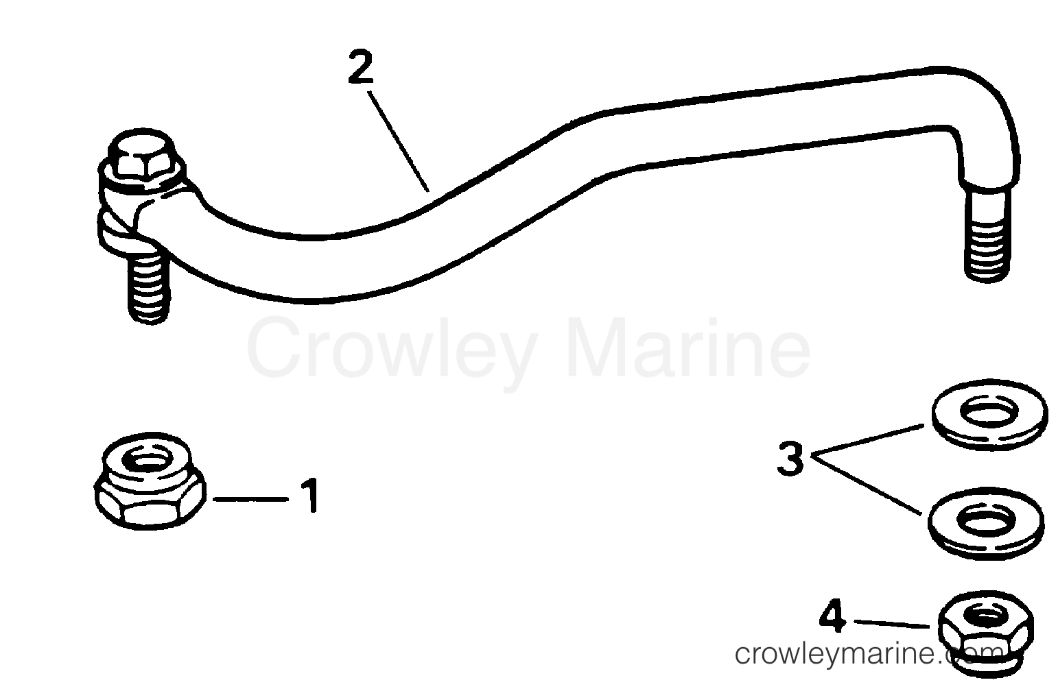 2001 Evinrude Outboards 10 - E10EL4SID STEERING LINK KIT - EL, EVL MODELS ONLY section