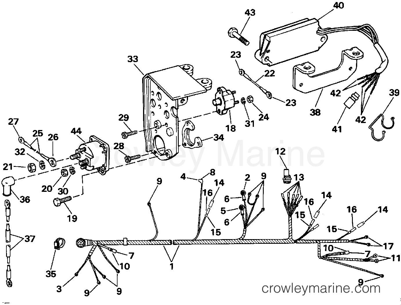 Engine Wire Shift Module 1992 Omc Stern Drive 57 574aplamh Shifter Wiring Diagram Section