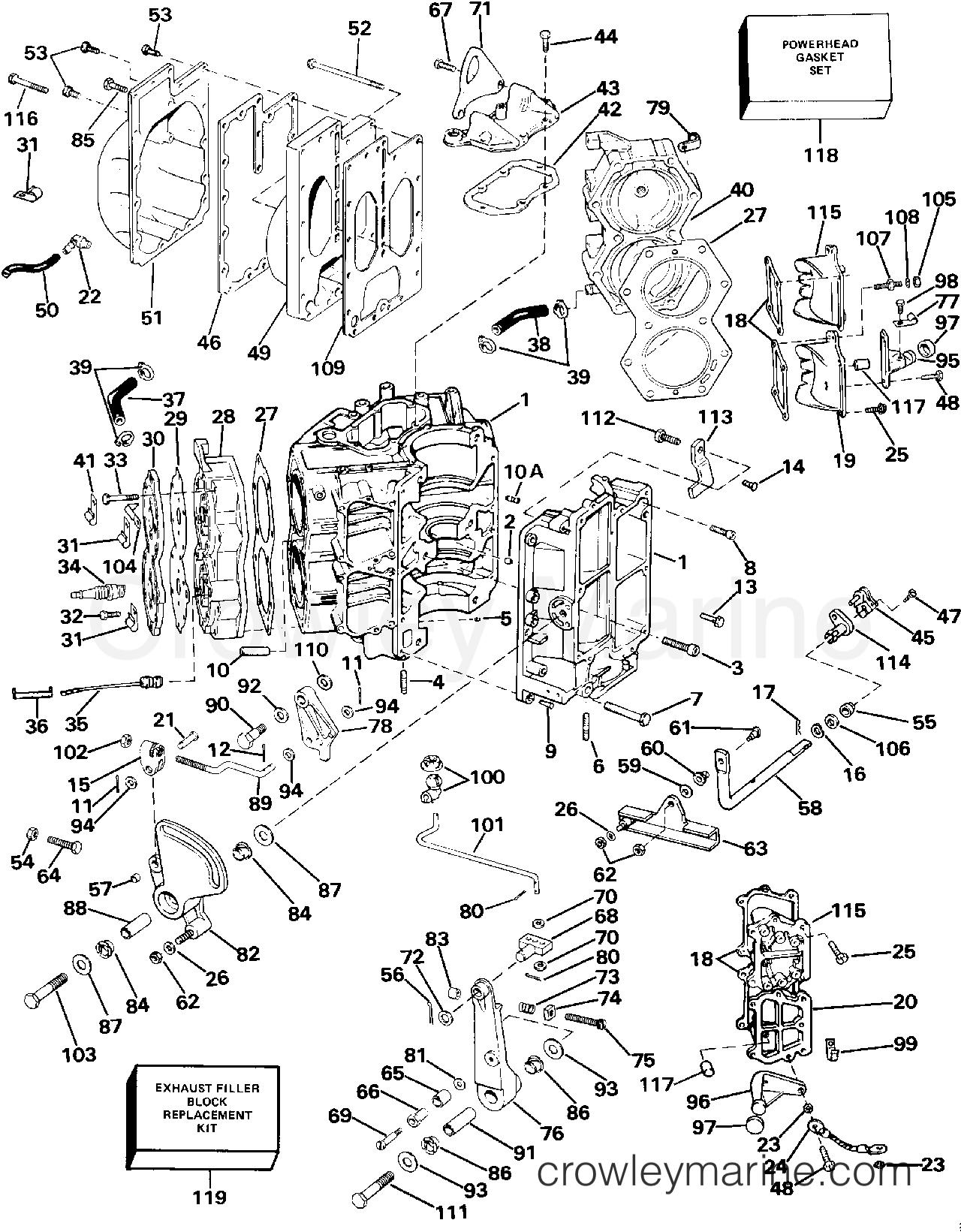 cylinder  u0026 crankcase