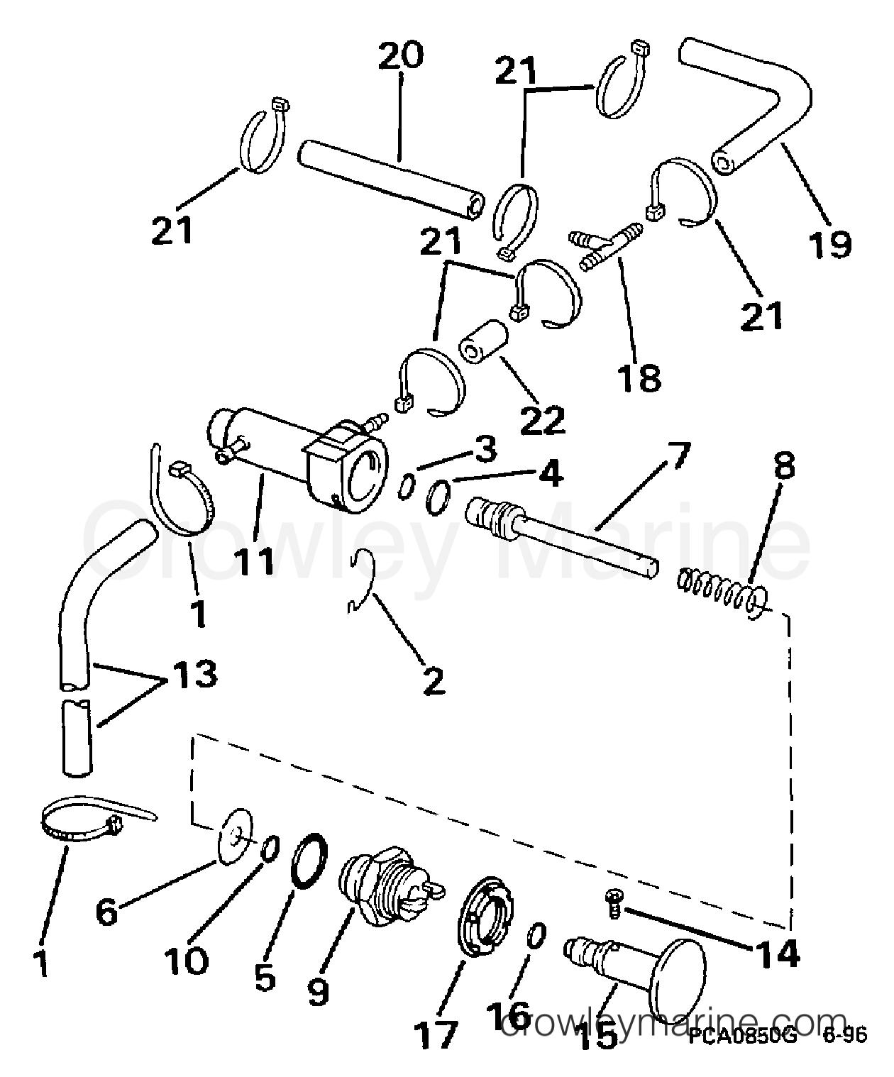1997 Evinrude Outboards 18 - B25JREUR PRIMER SYSTEM section