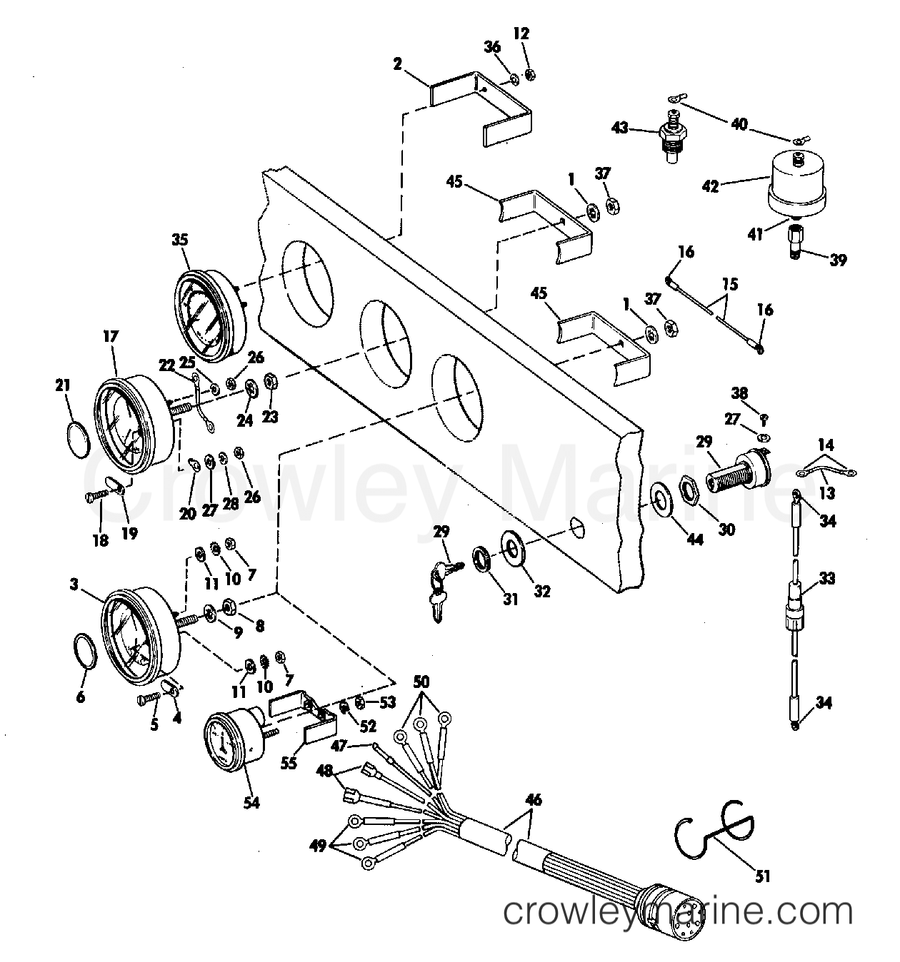 Upper Omc Wiring Harness 1972 Explained Diagrams Instrument Kit Assembly Ring Bezel 245 Jet Drive Stern Sea Doo