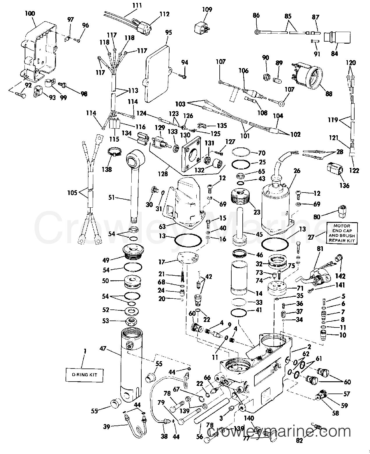 1989 Rigging Parts Accessories - Power Trim & Tilt - POWER TRIM/TILT 60 THRU 110