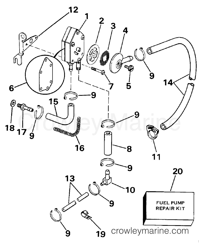 johnson 15 fuel pump diagram wiring diagram 15 HP Evinrude Parts Diagram