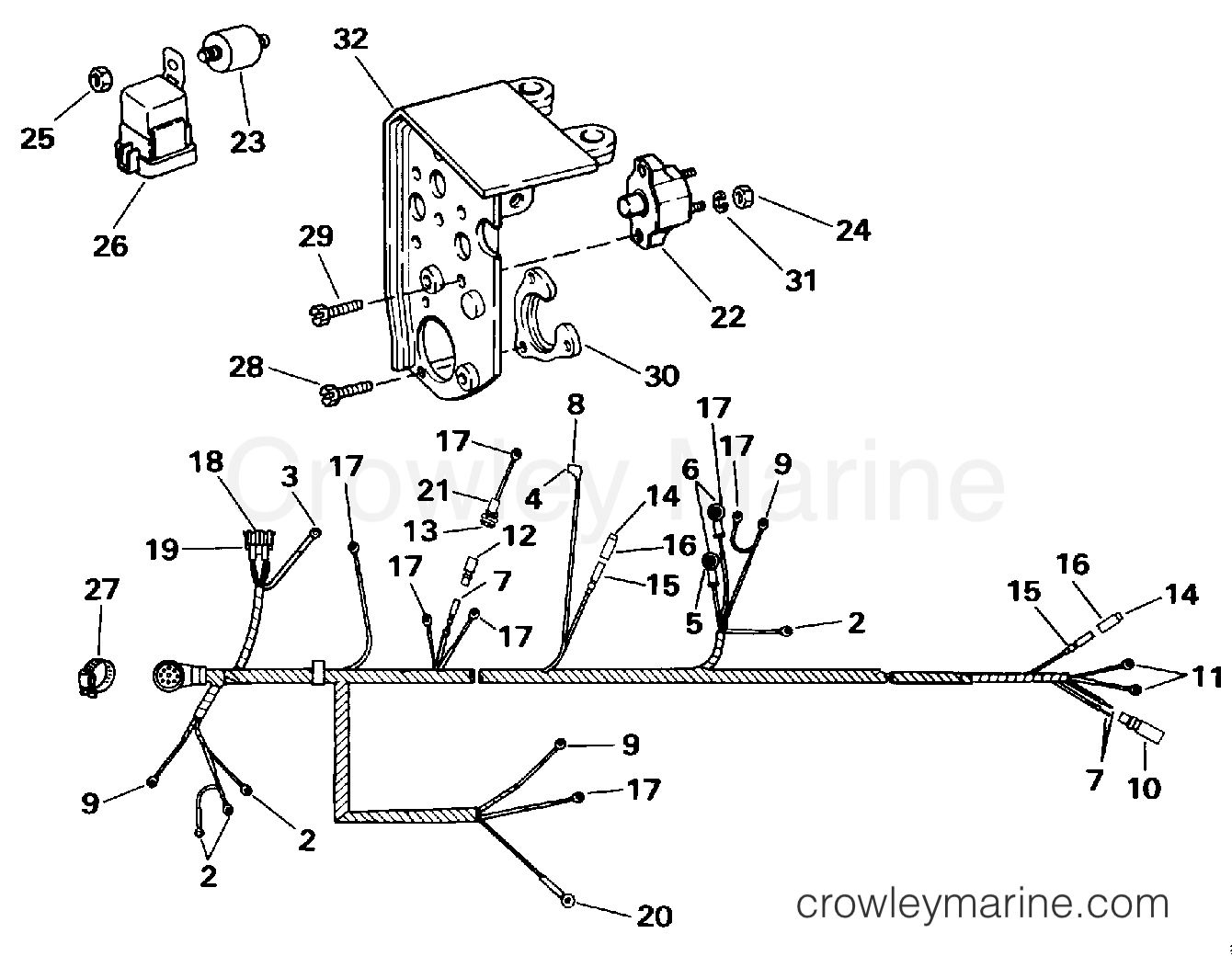 Engine Wire Harness Shift Module 1994 Omc Stern Drive 57 Automotive Wiring Wires 572acpmda Section