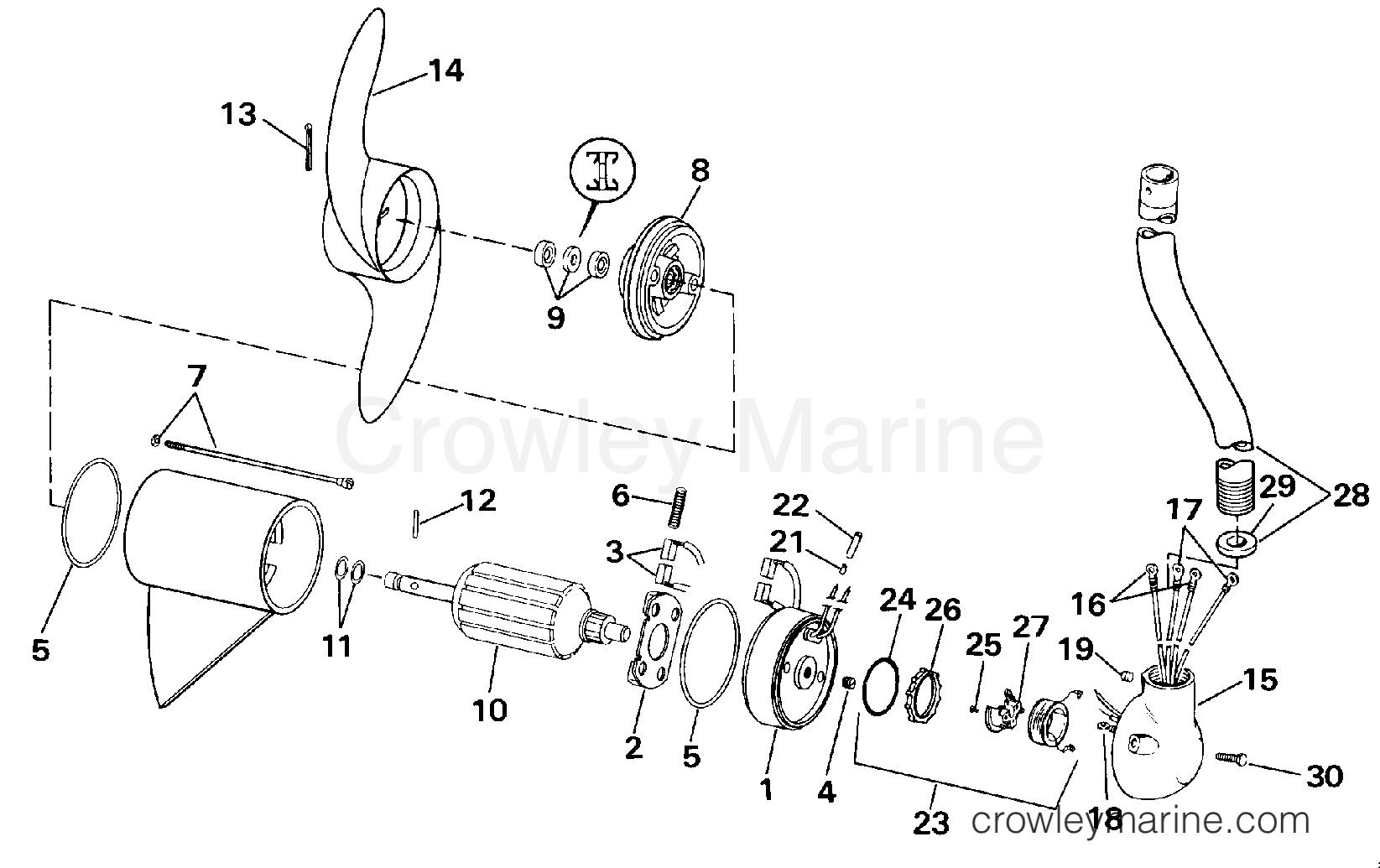 "1990 Electric Motors 24 Volt - BHL4K - MOTOR AND ADAPTER GROUP/12 VOLT (""K"" MODEL SUFFIX)"