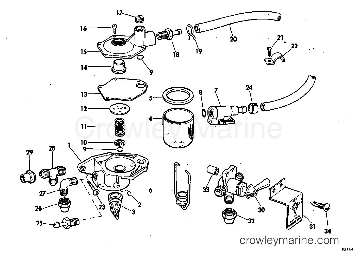 1978 Rigging Parts Accessories - Fuel System - PRIMER PUMP KIT