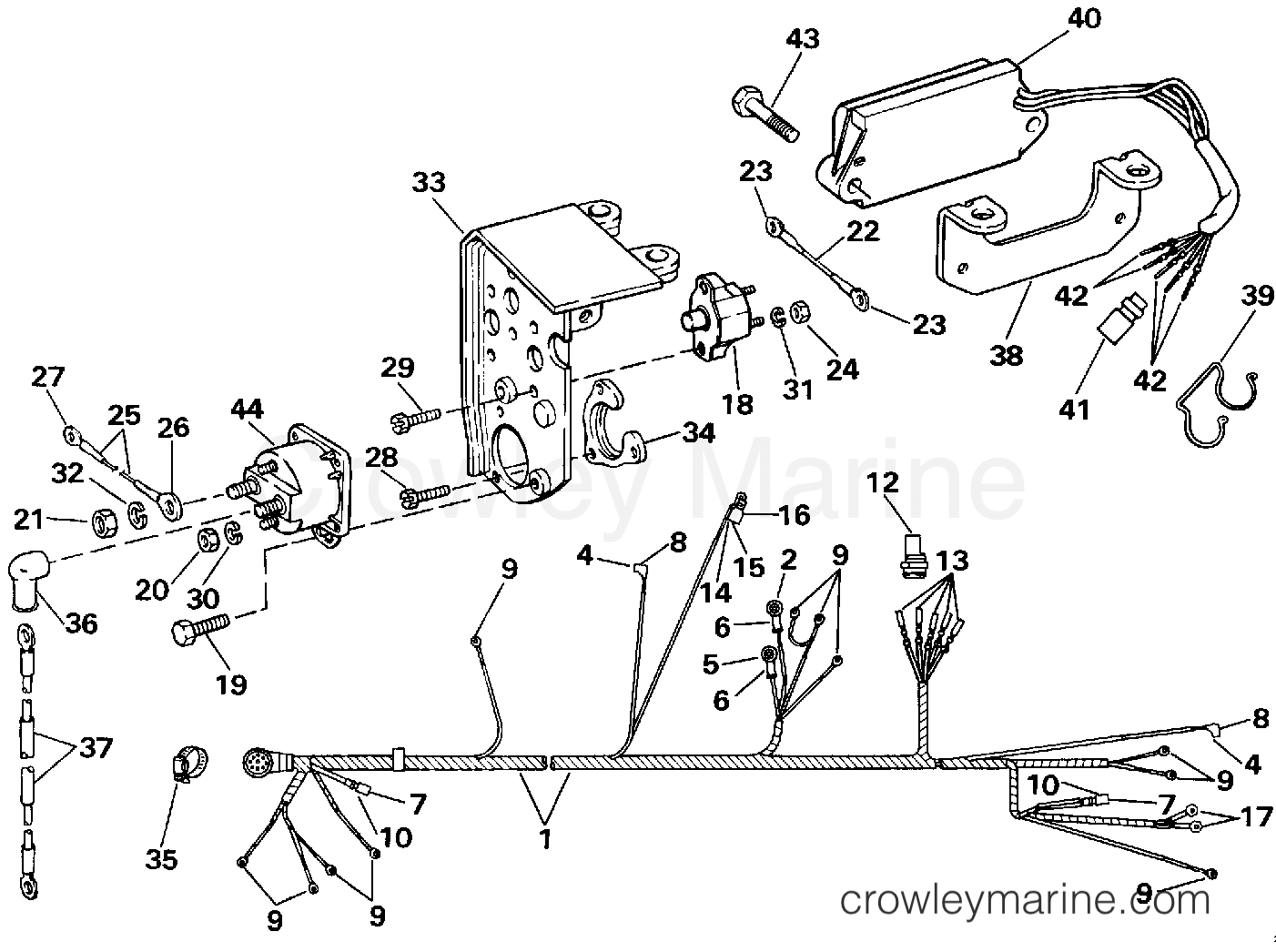 Engine Wire Shift Module 1991 Omc Stern Drive 57 574aplrgd Shifter Wiring Diagram Section