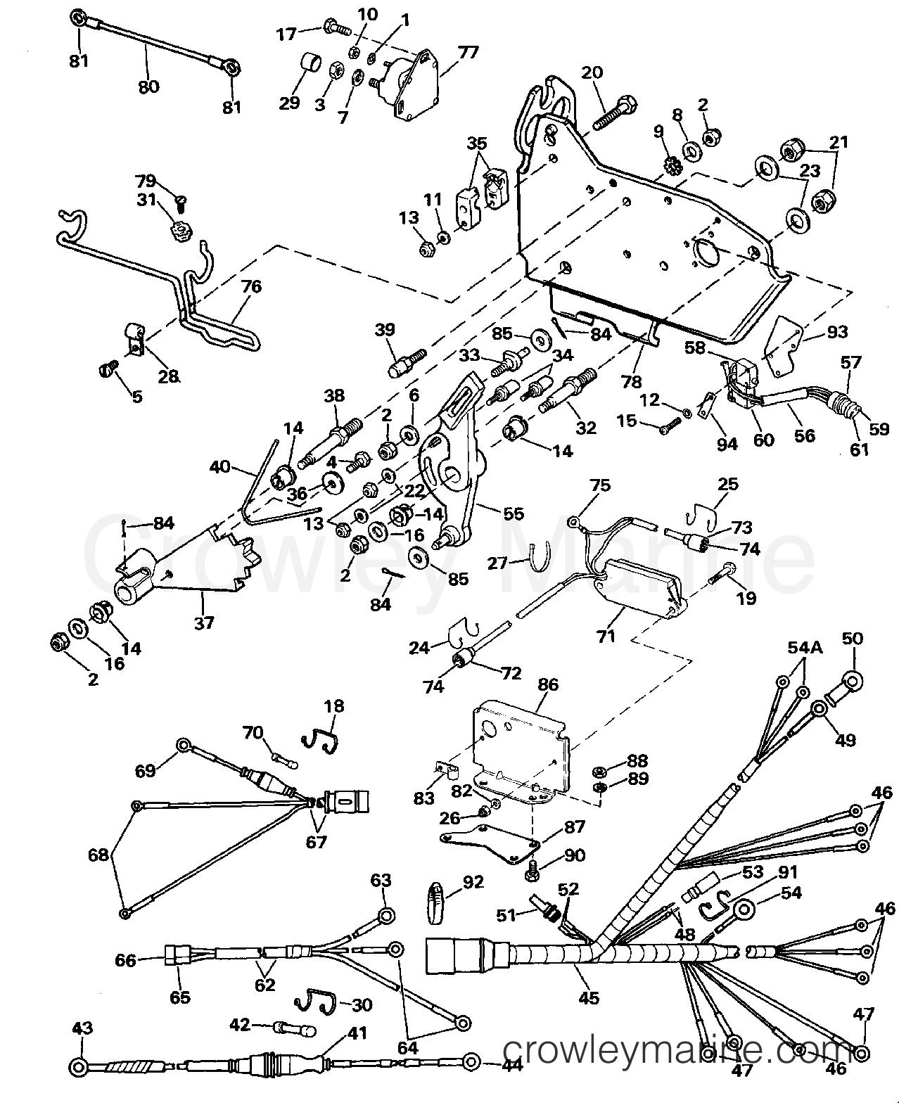Wire Harness, Bracket & Solenoid 1988 Omc Stern Drive 2 3 1985 OMC Wiring Diagrams Omc 2.3 Wiring Diagram
