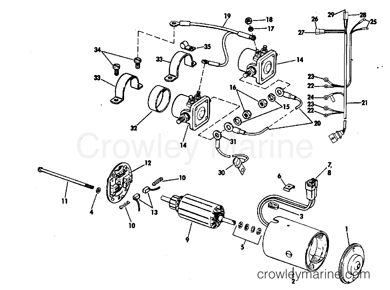 Omc Motor Diagram Wiring Schematics Brp Evinrude Ignition Switch Boat Tilt Group Prestolite Model Etk 410280120155210 Hp 1969 Water Pump