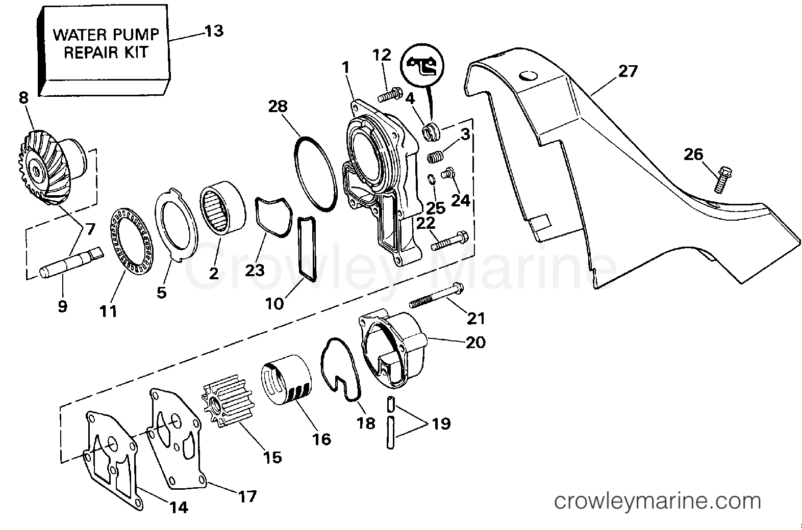 Omc Water Pump Diagram Wiring Harness Adapter Stern Drive Apepws And Adaptor Section 1572x1040