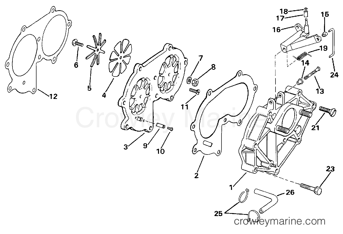 1997 Evinrude Outboards 25 - E25TEEUM - INTAKE MANIFOLD section