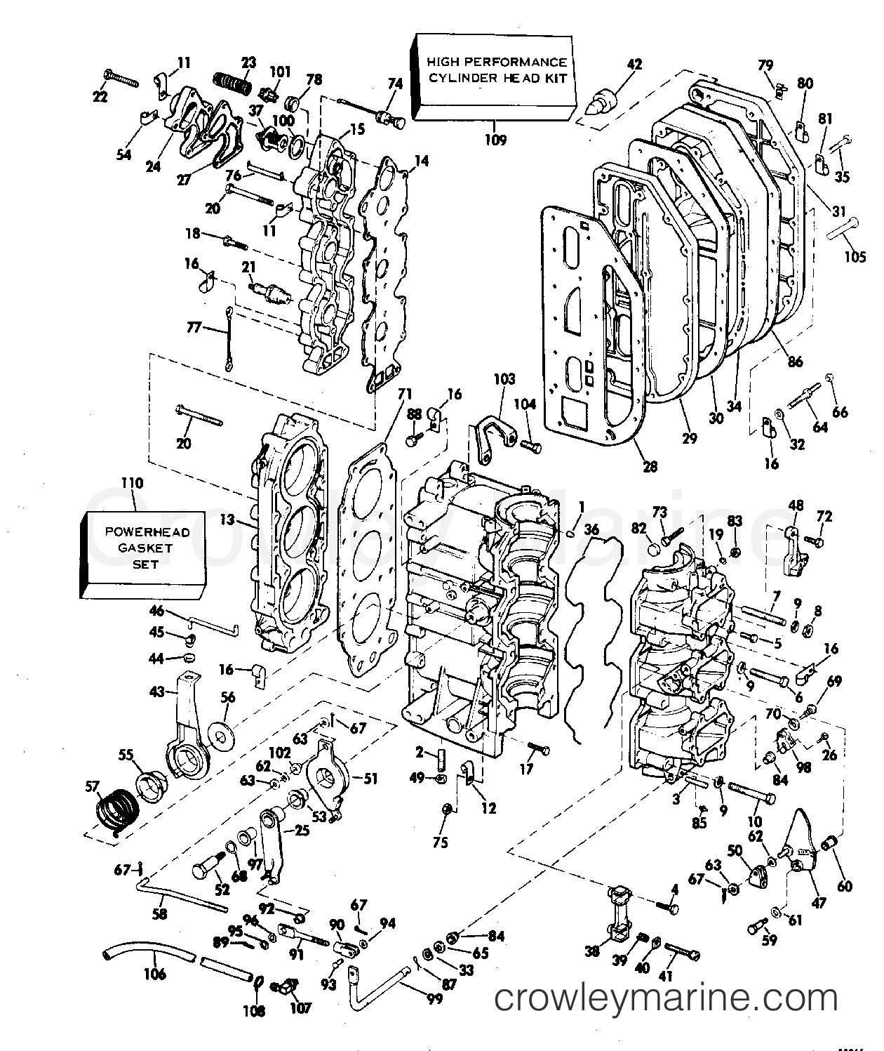 cylinder and crankcase