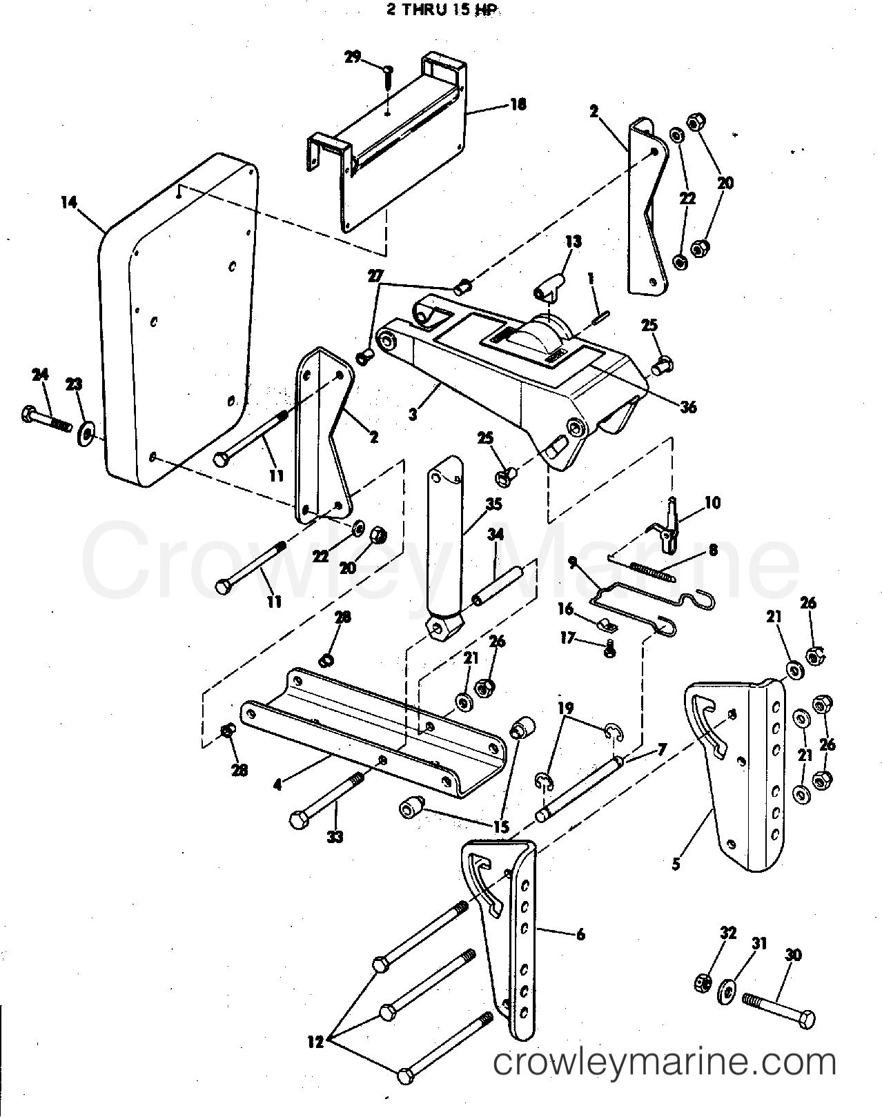 omc engine diagram wiring library OMC Engine Diagram 1977 rigging parts accessories miscellaneous auxiliary motor bracket kit 2 thru 15 hp section