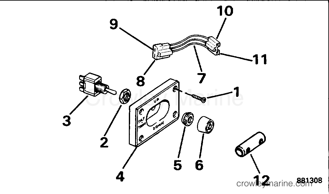 1994 Rigging Parts Accessories - Power Trim & Tilt - TRIM/TILT SWITCH CONVERSION KIT - DUAL ENGINE