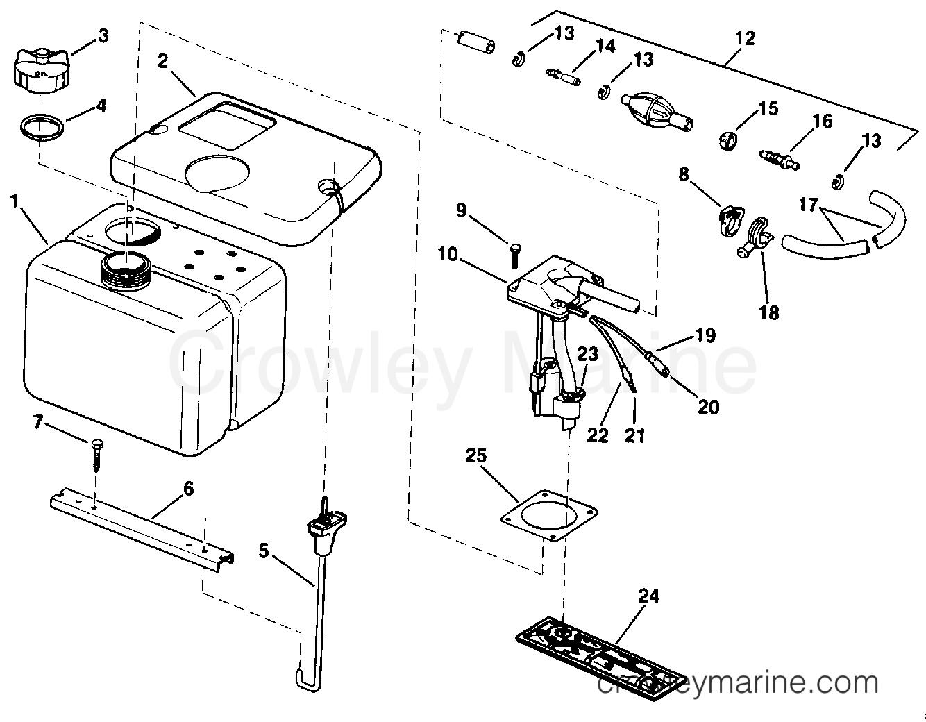 vro oil tank kit-1 8 gallon