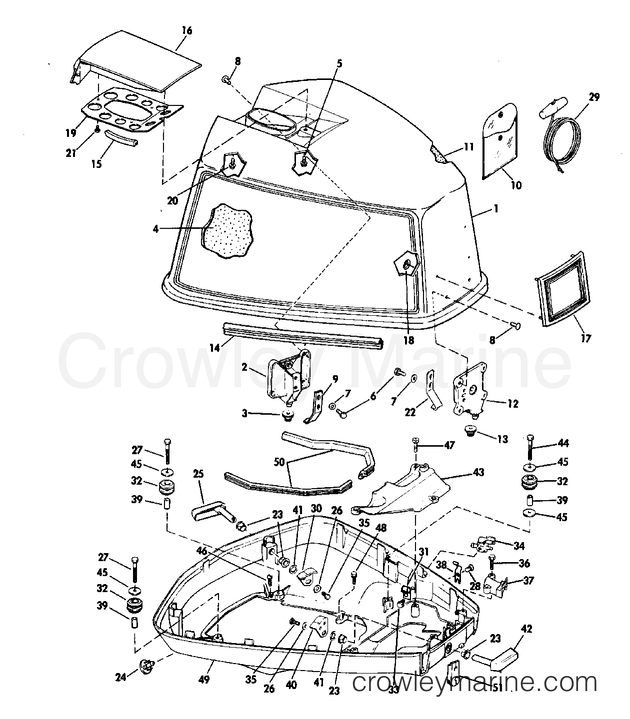 motor cover - johnson
