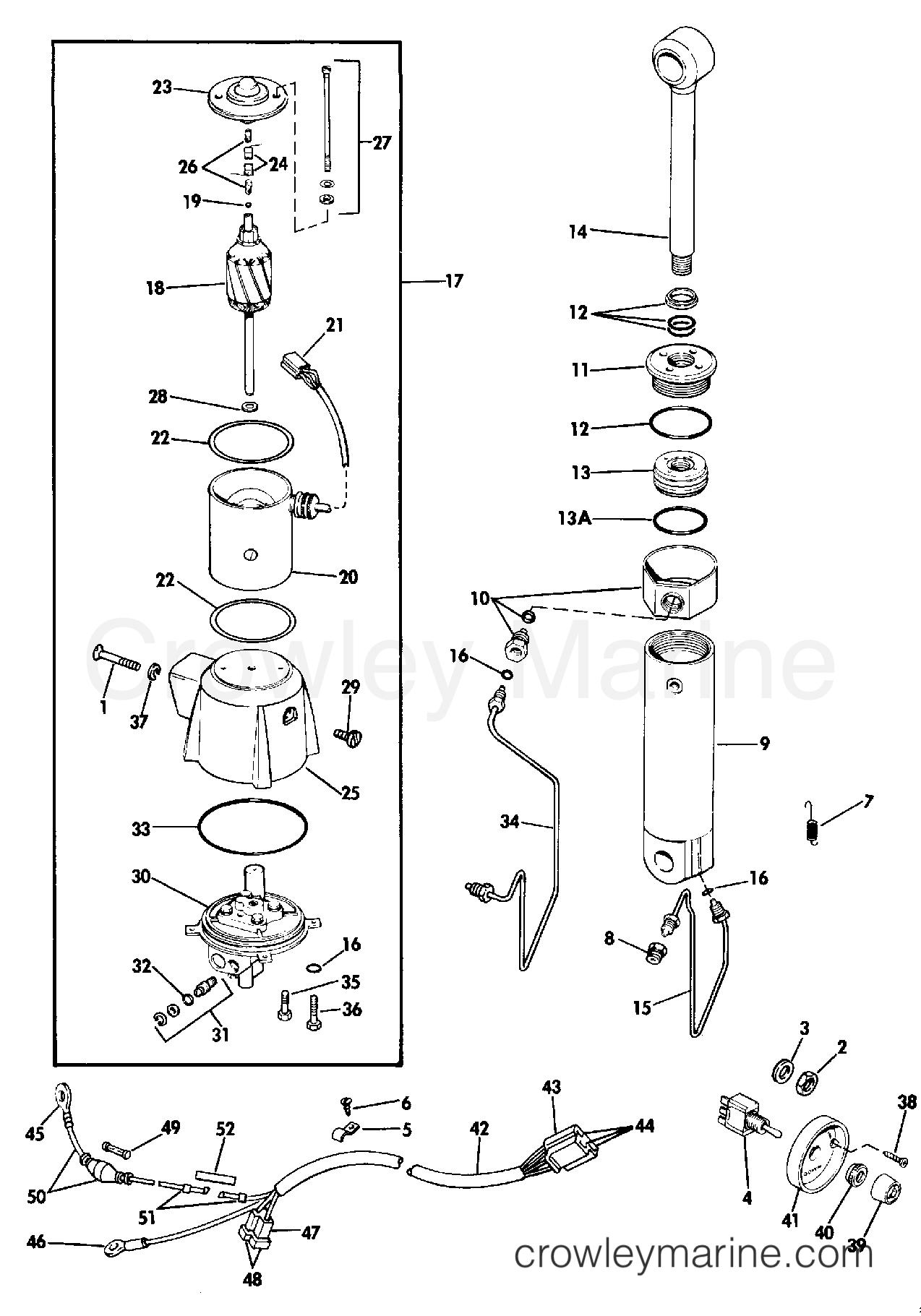 1987 Rigging Parts Accessories - Power Trim & Tilt - POWER TILT KIT ASSEMBLY 60 THRU 110