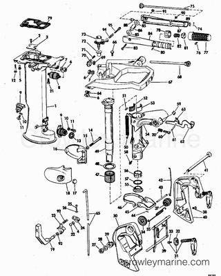 Diagram Of 1978 235tx78r Johnson Outboard Exhaust Housing Diagram