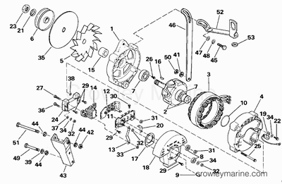 1989 omc stern drive 4.3 [262amlmed] - parts lookup - crowley marine 1989 omc cobra wiring diagrams 1989 chevy suburban wiring diagrams #11