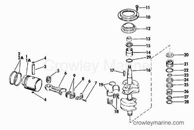 CRANKSHAFT AND PISTON