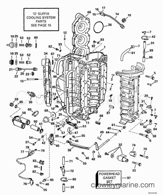 24 furthermore Omc help page further 5110 furthermore 3298 further Electric Engine Gasket Kits. on omc exhaust diagram