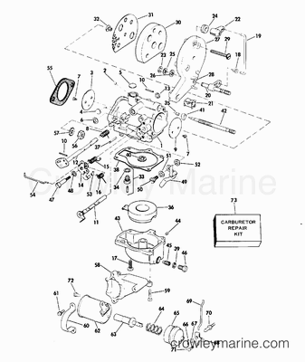 Diagram Of 1995 J125wtple Johnson Outboard Intake Manifold Diagram
